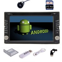 Free Camera 3G Dongle Universal 2 Din Android 4 2 GPS Car Stereo Radio DVD Player