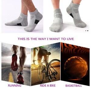 Image 2 - LifeWheel erkek çorapları spor pamuk çorap ter nefes Deodorant havlu alt uzun tüp kısa çorap 6 çift/grup