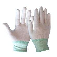 1 paar Antistatische Handschoenen Elektronische Handschoenen Anti statische stofvrij Dunne Gedeelte Gebreide Handschoenen Dragen Beschermende Beschermende Handschoenen
