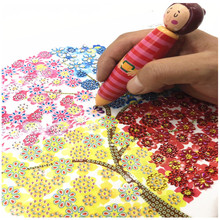 5d DIY Cartoon Girl Point Drill Pen Diamond Embroidery Special Shape Rhinestone Decoration