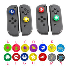 Silikon Thumb Stick Grip Caps Analog Joystick Abdeckung Fall Für Zelda Mario Nintend Schalter Lite NS Mini Controller Joy con Joypad