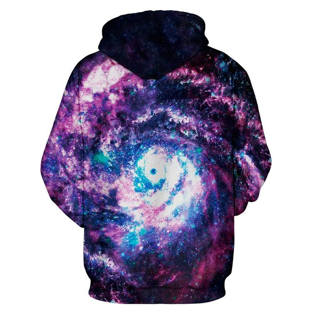 Unisex 3d Space Galaxy Hoodies – loose style