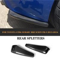 12 13 GT86 Bottomline Style Carbon Fiber Car Rear Splitter For Toyota Rear Bumper Splitters For