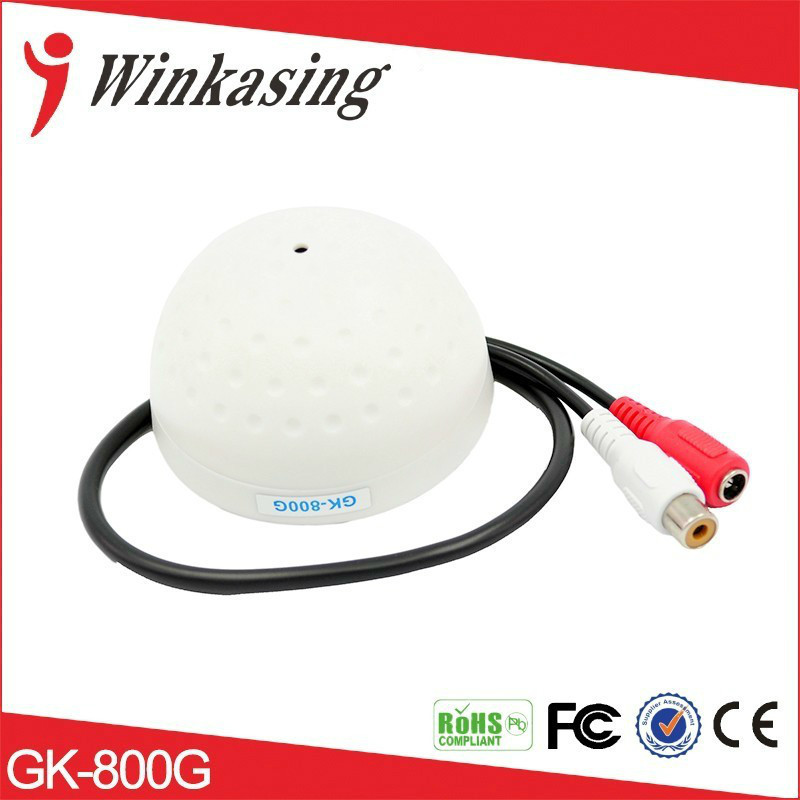 цены White CCTV Microphone Audio Pick up Device High Sensitivity 12V DC Half Ball Sound Monitor Ceiling Mount Microphone