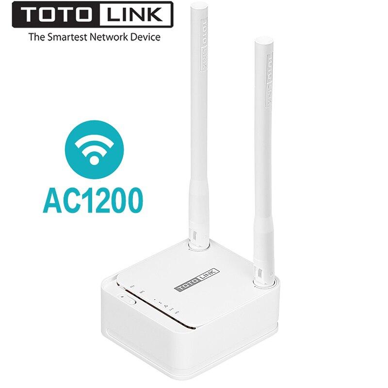 TOTOLINK A3 1200 Mbps Dual Band Mini Taille WiFi Routeur Sans Fil Pont Pour Réseau Domestique, wi-Fi Répéteur Soutien VPN/Multi-SSID