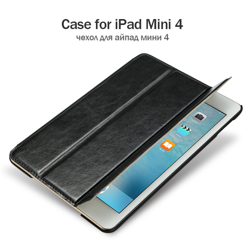 Jisoncase Luxury Smart Tablet Case For iPad mini 4 Flip Cases Magnet PU Leather Hard Back Cover for Apple iPad mini 4 7.9 Funda for ipad mini4 cover high quality soft tpu rubber back case for ipad mini 4 silicone back cover semi transparent case shell skin