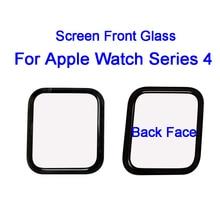 Sanvable 40mm 44mm LCD מגע מסך קדמי חיצוני זכוכית עדשת כיסוי עבור אפל שעון סדרת 4 החלפת חלקים עם מעקב