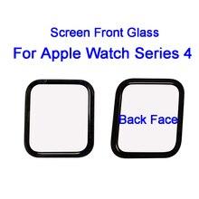 Sanvable 40mm 44mm lcd 터치 스크린 전면 외부 유리 렌즈 커버 애플 시계 시리즈 4 교체 부품 추적