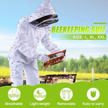 Хлопковая одежда для пчеловодства с капюшоном, куртка, защитный костюм для пчеловодства, костюм для пчеловодства, оборудование для пчелово...