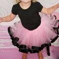 Nova chegada do bebê da fita da menina tutu saia de chiffon ocasional vestido de baile fofo pettiskirt criança fashion girl mini saia dança tutu