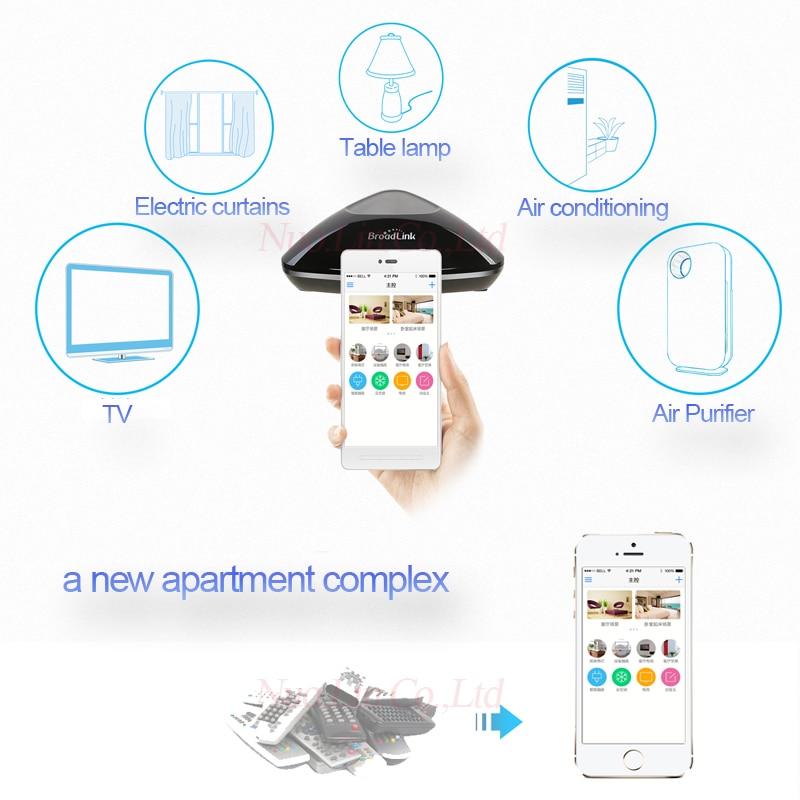US $37 9 |EU Original Broadlink RM Pro WiFi Smart Home Universal Remote+  App controlled temperature&humidity Wifi environment detector-in Smart  Remote