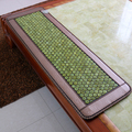 2016 Natural Tourmaline Mat Heat Cushion Jade Stone Heat Massage Physical Therapy Mat Pad Heat 50*150CM Free Shipping