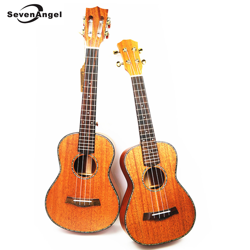 SevenAngel 26 Tenor Ukulele All Solid Wood Hawaiian 4 strings Guitar Mahogany Body Ukelele High quality professional Uku soprano concert tenor ukulele 21 23 26 inch hawaiian mini guitar 4 strings ukelele guitarra handcraft wood mahogany musical uke