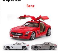 Суперкар Benz SLS AMG 1:37 Сплава Литья Под Давлением Вытяните Назад модель Моделирования детские игрушки Сплава Модель Автомобиля Игрушки Автомо...