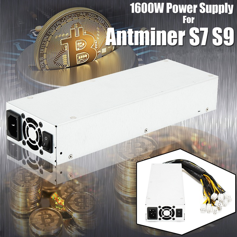 1600w 92% Mining Machine Power Supply For Bitcoin Miner S7 S9 Ethereum ZEC Zcash New ATX Mining Power Match UK/US/EU Plug цены онлайн