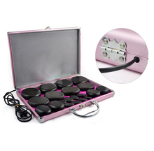 20pcs/set lava Natural Energy Massage stones massage stone hot spa rock basalt stone with heater box  110-240V