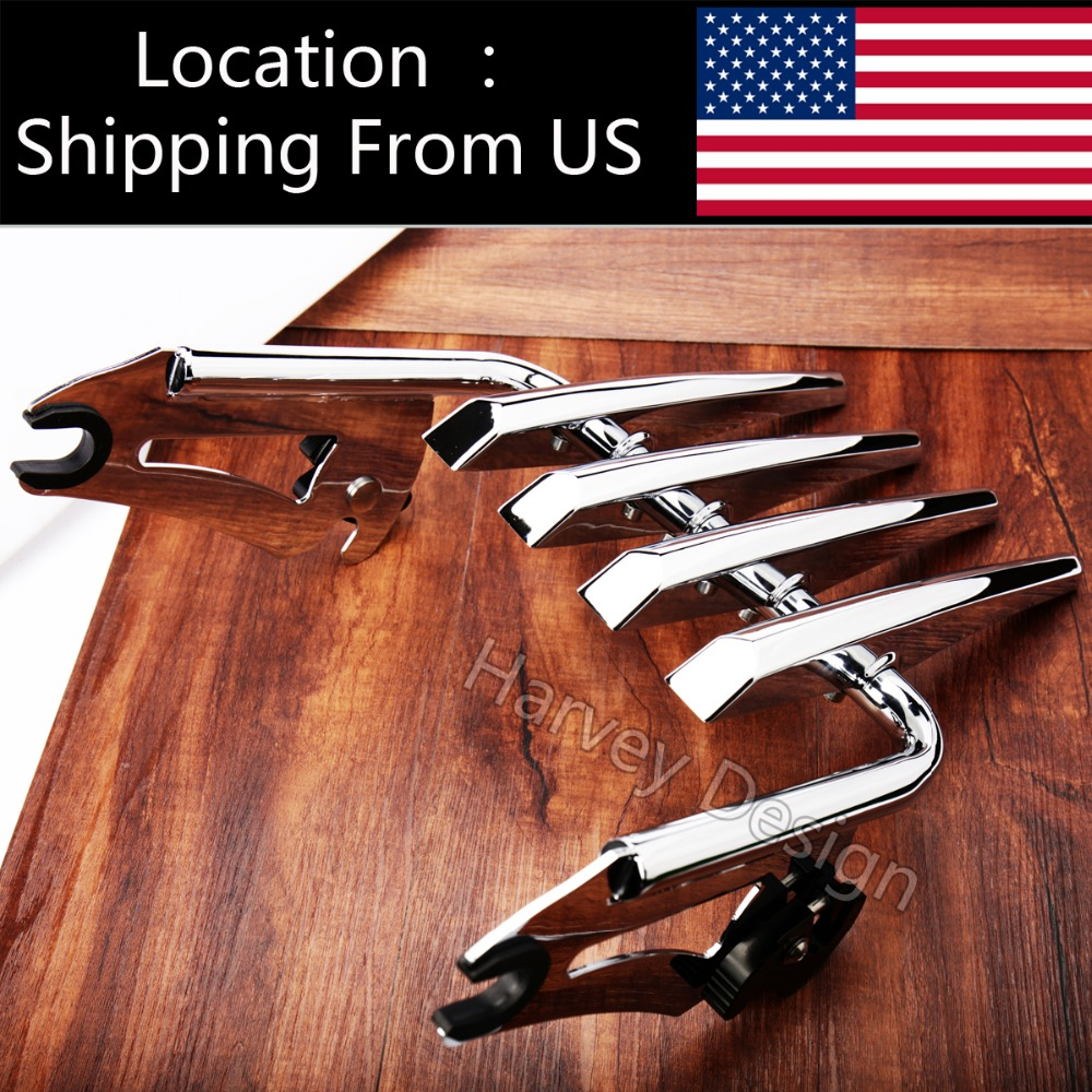 Chrome Stealth Luggage Rack Harley Touring Street Glide Road King 09 16 Parts