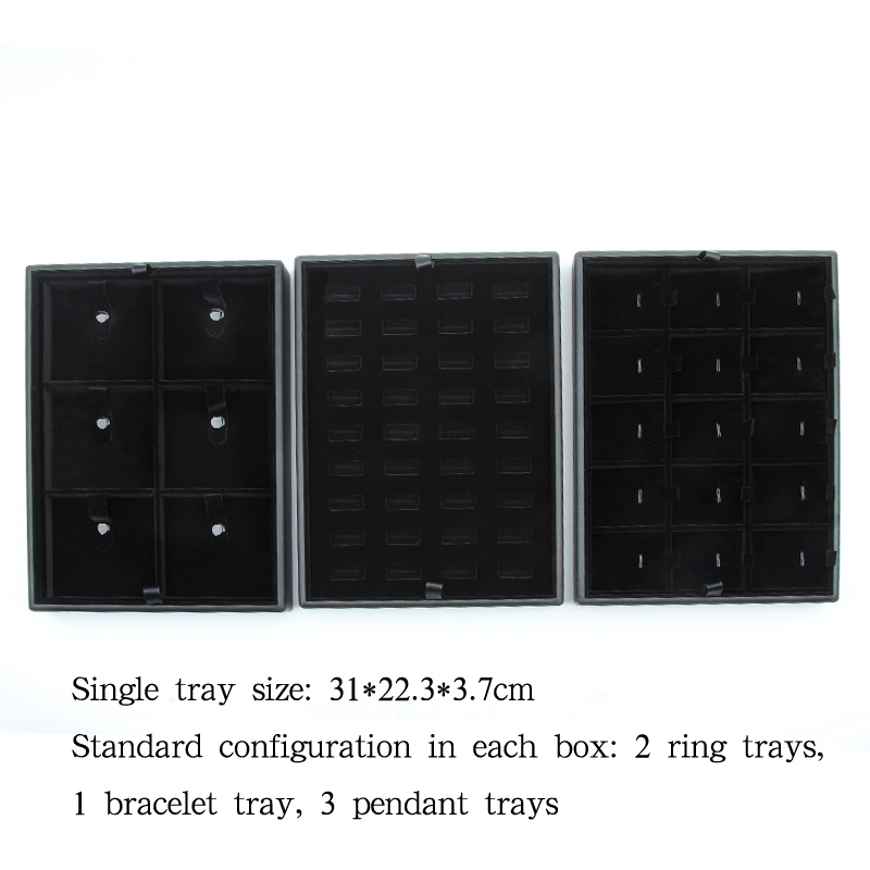 New PU leather trolley jewellery box special suitcase for business customization exhibition jewellery box with password