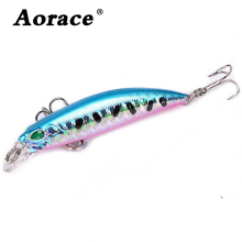 Купить с кэшбэком 1Pcs Minnow Fishing Lure 68mm-2.67in Laser Crankbait Wobblers Artificial Plastic Hard Bait peche Fishing Tackle 4g-0.14oz