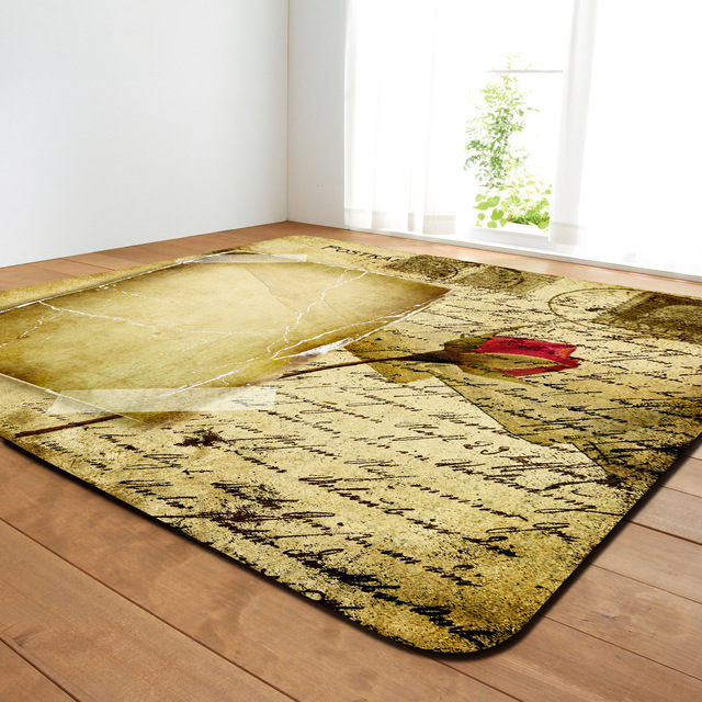 Zeegle Flowers Pattern Large Living Room Carpet Rectangle Bedroom