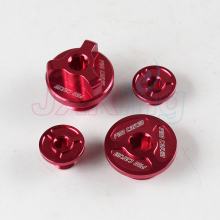 4PCS Billet Aluminum Engine Timing Oil Plug Set for ZONGSHEN NC250 NC 250CC Water Cooled Engine