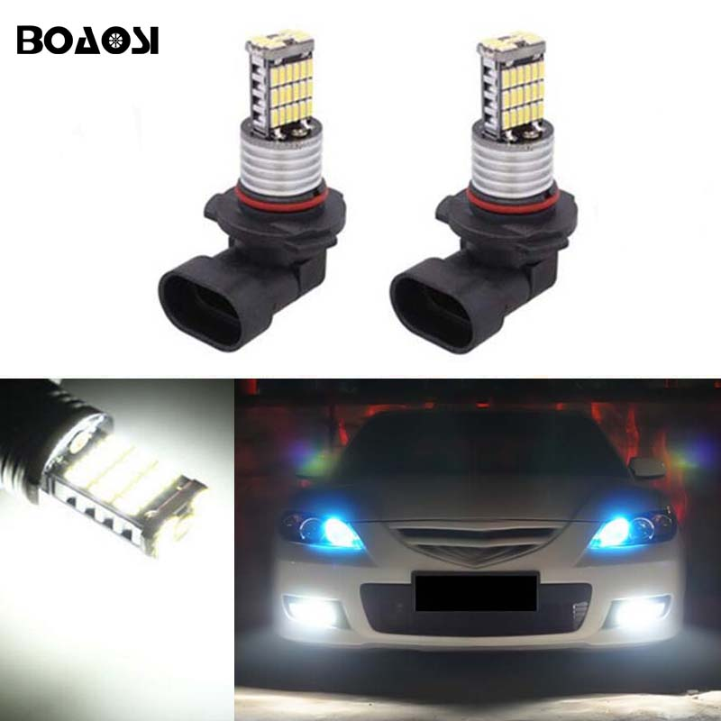 BOAOSI 2x H11 High Power LED Light 4014SMD 12W Fog Light Driving DRL Car Light for mazda 3 5 6 xc-5 cx-7 axela atenza