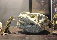 Персональный резиновый череп динозавра статуя старинные украшения дома аксессуары для кабинета, бара тираннозавр рекс скульптура черепа