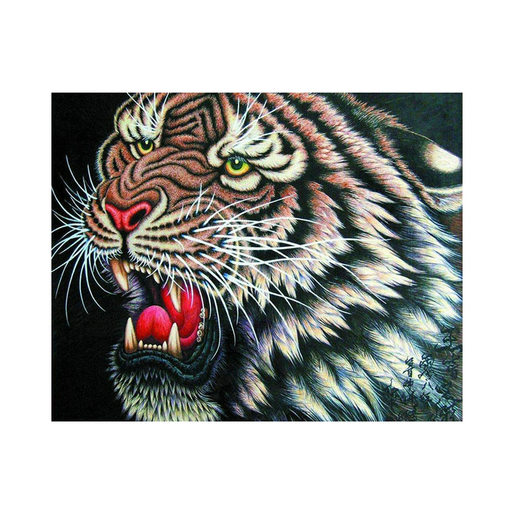 Diamond Embroidery Angry tiger animal Diamond Painting Cross Stitch Suite 5D DIY Full square, round Mosaic Decoration BV670