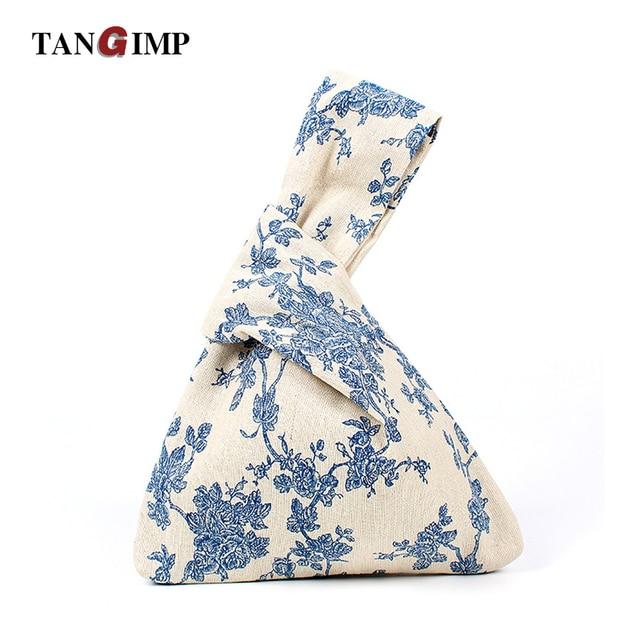 42525abfcaff TANGIMP Wristlets Bags Cotton Linen Japanese Style Banana Flower Ethnic  Mini Shopping Handbags Coin Purse for Gift Original
