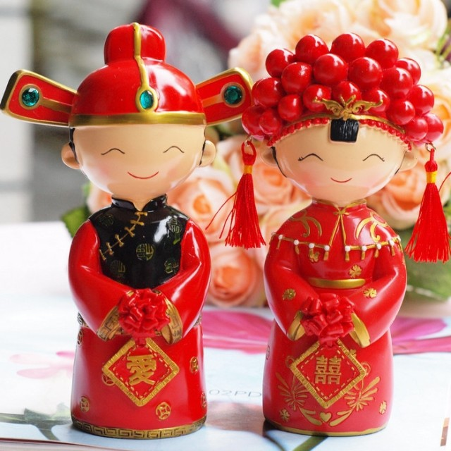 Chinese Bride Wedding Cake Topper