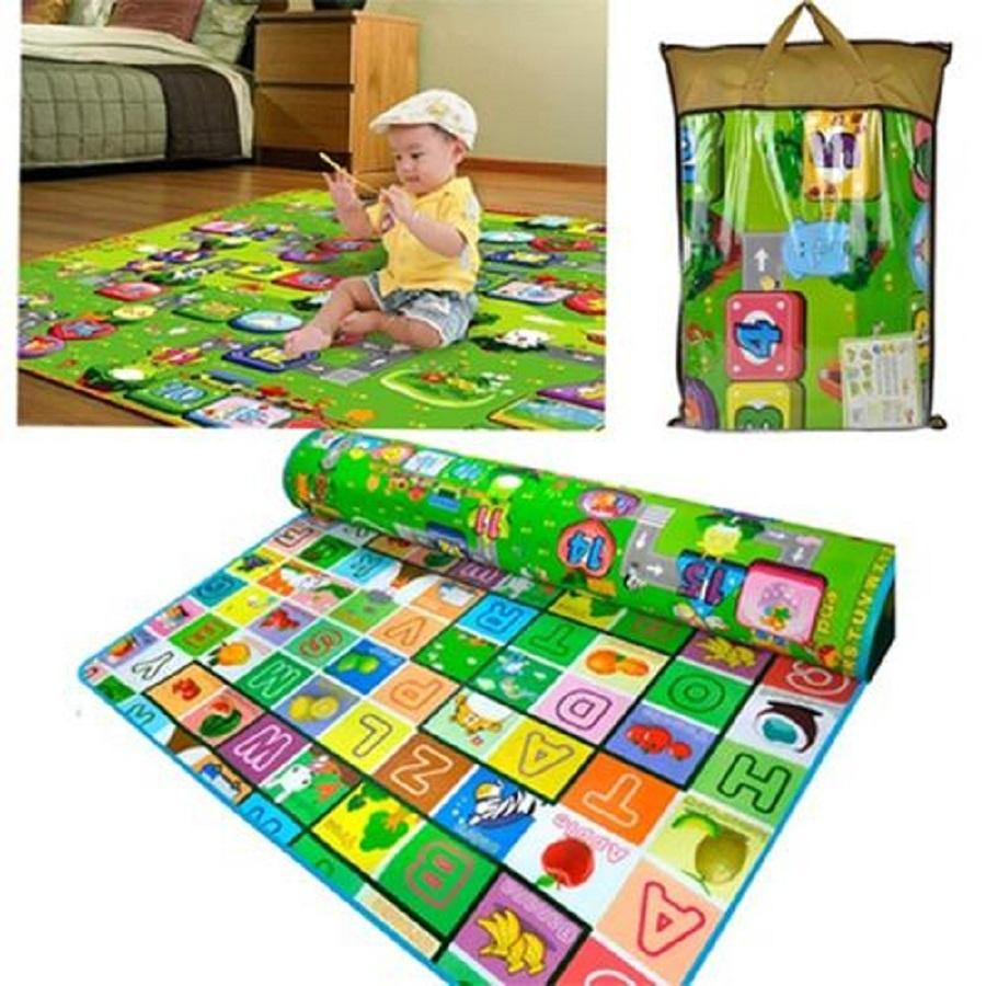 Baby Toddler Crawl Play Mat Camping Picnic Letter Alphabet Floor Rug Mat  180x200CM(China (