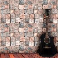 beibehang wallpaper Split Wooden Stuff Pattern Restaurant Wall paper Internet Bar Cashier Salon Shop Wooden Background Wallpaper
