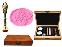 Vintage Decorative Pattern Luxury Wax Seal Sealing Stamp Brass Peacock Metal Handle Sticks Melting Spoon Wood