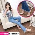 Мода волосы микро-круг брюки женские джинсы Слим был бахромой широкие ноги клеш брюки длинные брюки
