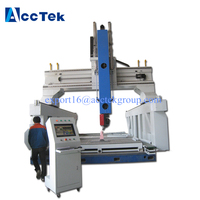 AccTek cnc router engraving cutting machine 6000*4000*2500mm 6040 5 axis cnc machine 5 axis for bornite craftworks