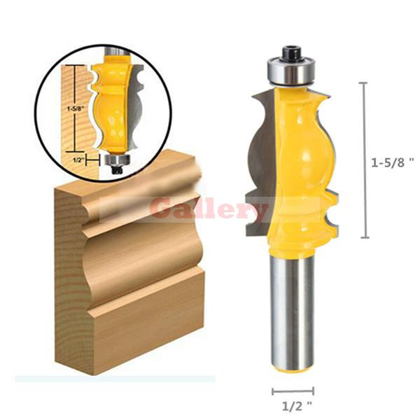 1/2 Shank Ogee Chisel Cutter Router Bit Door Woodworking Carpentry Tool Gear Milling 1 Drill Drill Bit Drill Bit Set Drill Bit 8pcs wood plug cutter cutting tool drill bit set straight and tapered taper 5 8 1 2 3 8 1 4 woodworking cork drill bit knife