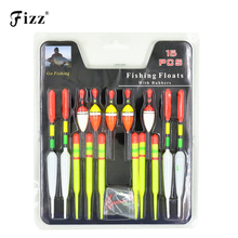 15 pcs set Three Sizes Fishing Float Tube Buoy Bobber with Rubber Connector Fishing Tackle for