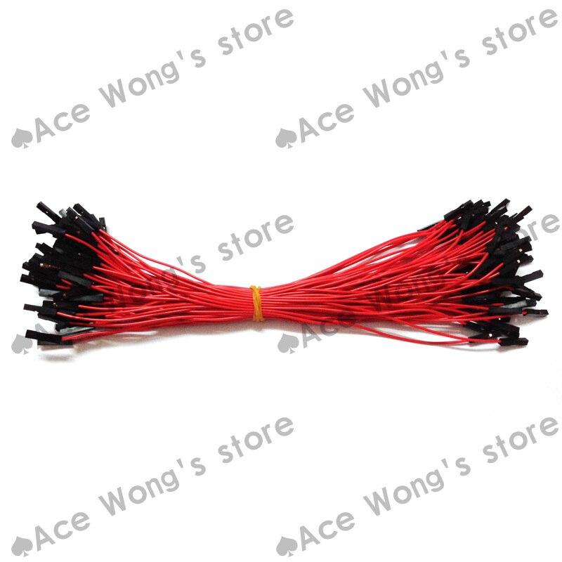 ᗐEnvío libre 100 unids nueva 1 P a 1 P 20 cm rojo hembra a cable ...