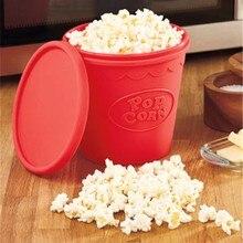 Qualität DIY lebensmittelqualität Silikon Faltbare Popcorn Eimer Mikrowelle Pop mais Bowl Maker Popcorn Backen Werkzeug