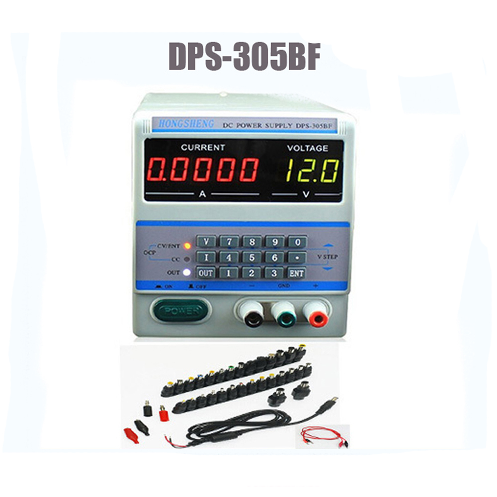 DPS-305BF Digital Control 30V 5A 0.1V/0.0001A keypad Digital Programmable Adjustable DC Power Supply for Laptop Repair 220V/110V free shipping dps 305dm digital dc power supply 30v 5a 0 001a 0 1v programmable mobile phone repair power