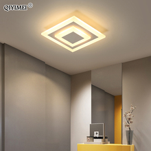 Lámpara LED de techo para pasillo, iluminación cuadrada redondo, accesorios decorativos para el hogar
