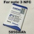5850 mah b800be batería nfc para samsung note 3 n9000 n9002 n9005 n9006 batería nfc n9008w