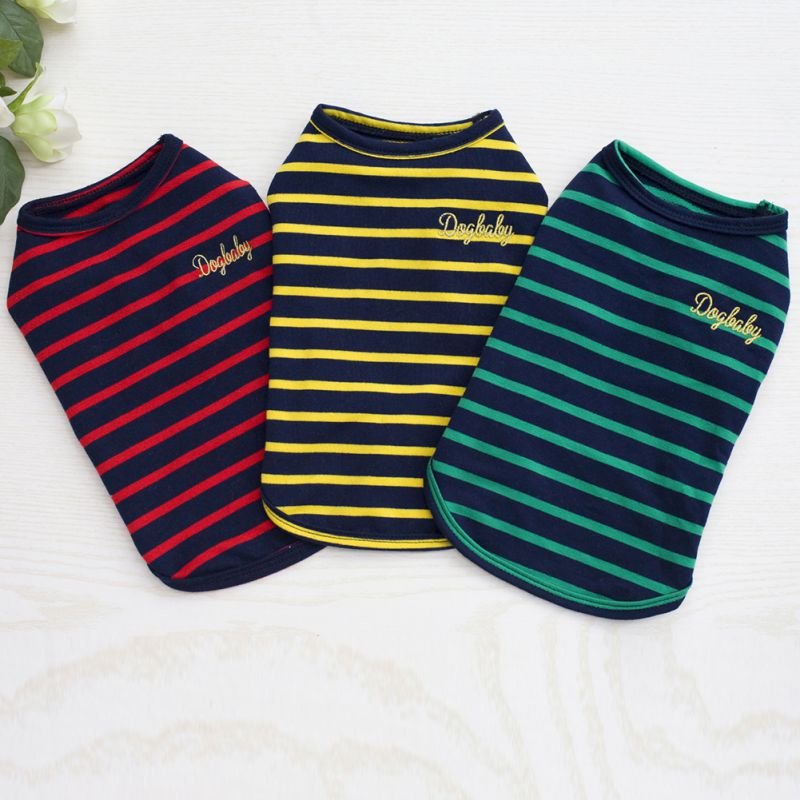 2018 Summer Pet Dog Clothes for Small Dog T-shirts Puppy Sport Soccer Jersey Cat Striped Vest Outfit Spring Pet Coats Vests Замок