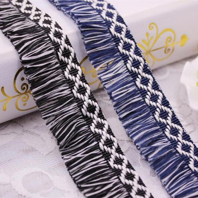 10yards/lot Cotton Fringe Tassel Trim Thin Lace Decoration