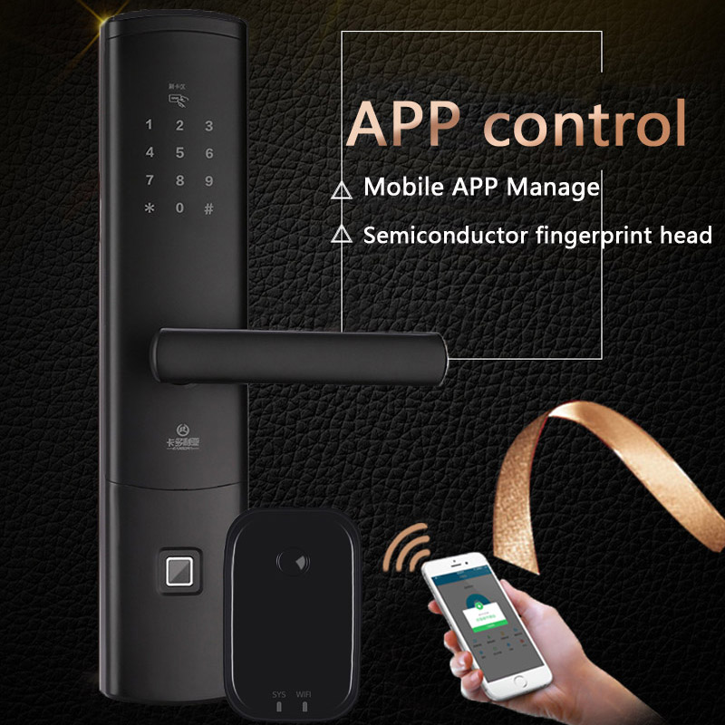 Cellphone Remote Controlled Doorlock Intelligent Smart Password Door Lock