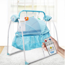 Baby electric cradle bed sleeping swing baby rocking bed newborn child automatic shaker chair intelligent coax infant Swings electrical baby cradle rocking chair folding baby bed cradle baby rocking newborn crib musical chair plastic toys moonlight star