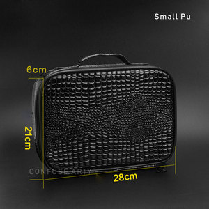 Image 4 - Professional Barber Hair Tool Bags Salon Hairdressing Scissor bag Clipper Comb Storage Case Can Hold Hair Dryer Training Head