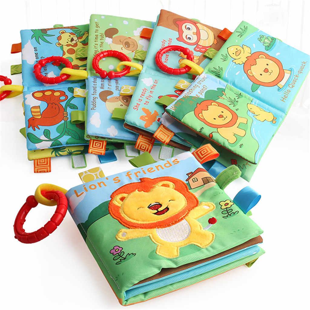 2019 newBaby Дети развития интеллекта 3D животное ББ звук Ткань Книга Обучающие Детские игрушки # G20