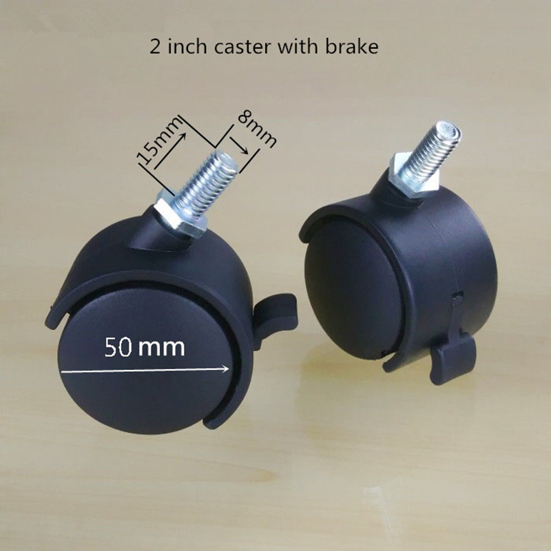 2 inch belt brake wire tooth castor wheels swivel chair to sofa universal wheel The baby bed harness M8 screw teeth curt 51434 brake control harness