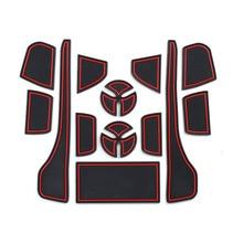 купить Car Styling Interior Non-Slip Mat Door Groove Pad Cushion Rubber Mat for Toyota Crown 2019 2020 по цене 1294.18 рублей